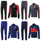 Sport Jacket Winter Long Sleeved Soccer Suits Adult Sport Jacket Running Training Football Clothes Warm Sportswear Match With Zipper