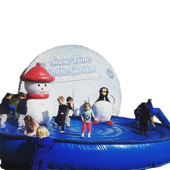 4Meter Diameter Christmas Giant Human Size Inflatable Snow Globe
