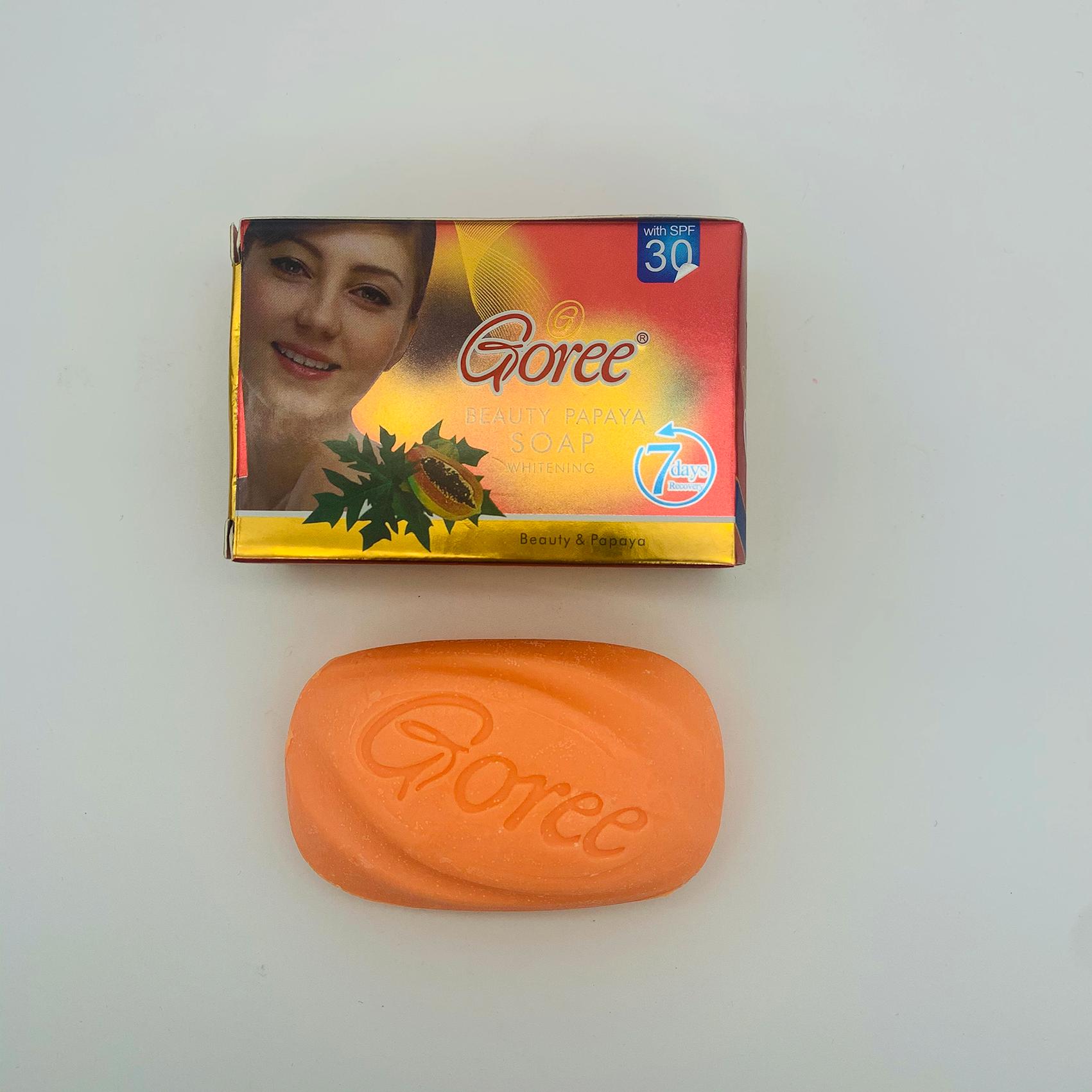 natural bath moisturizing skin moisturizing papaya beauty whitening groee soap