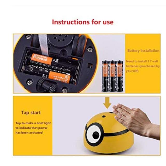 Миньоны игрушки Робот детский Радиоуправляемый автомобиль забавные мигающие игрушки для прямой поставки