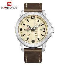 Часы NAVIFORCE с датой недели, кварцевые часы для мужчин, повседневные военные спортивные наручные часы из искусственной кожи, мужские часы, 2020(Китай)