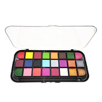 Wholesale Halloween Carnival Fancy Dress Party face paint kits 24 colors body Face painting