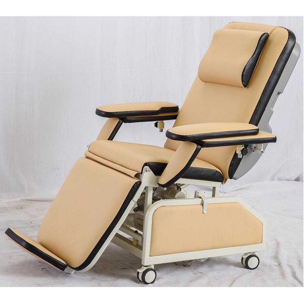 Заводская поставка, ручной диализный стул с колесами, стул для сбора крови BC120F
