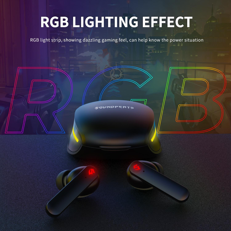 New Arrival SoundPEATS Gamer No .1 Gaming Earphones tws earphone 60 ms Low Latency Type-C Charging wireless earphones headphone