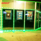 Rgb Led IP68 Waterproof Outdoor Decoration Light Dimmable 24V 12vdc Pixel RGB Storefront Led Light Led Window Border Light