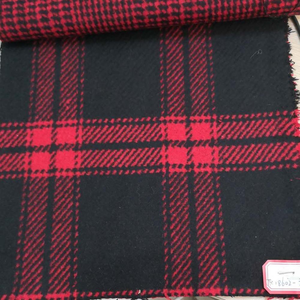 Два вида тяжелых тканых красных и черных, 30% шерсть, 70% другие ткани в наличии