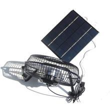 1 шт. панели солнечных батарей вентилятор эпоксидные солнечные панели/компоненты Ультра-тихий дизайн удобный объем воздуха Мобильная мощно...(Китай)