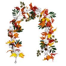 Искусственные кленовые листья из ротанга Осенний урожай День благодарения фестиваль Висячие длинные стены из ротанга обмотки моделирован...(Китай)