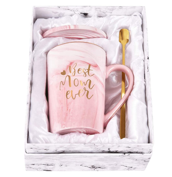 mother day gifts 2021 new arrivals wholesale custom logo luxury pink ceramic mothers day mugs with lid mugs for mother gift