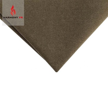420gsm Cotton Knitted NFPA2112 Workwear Fire Resistant Fleece Fabric