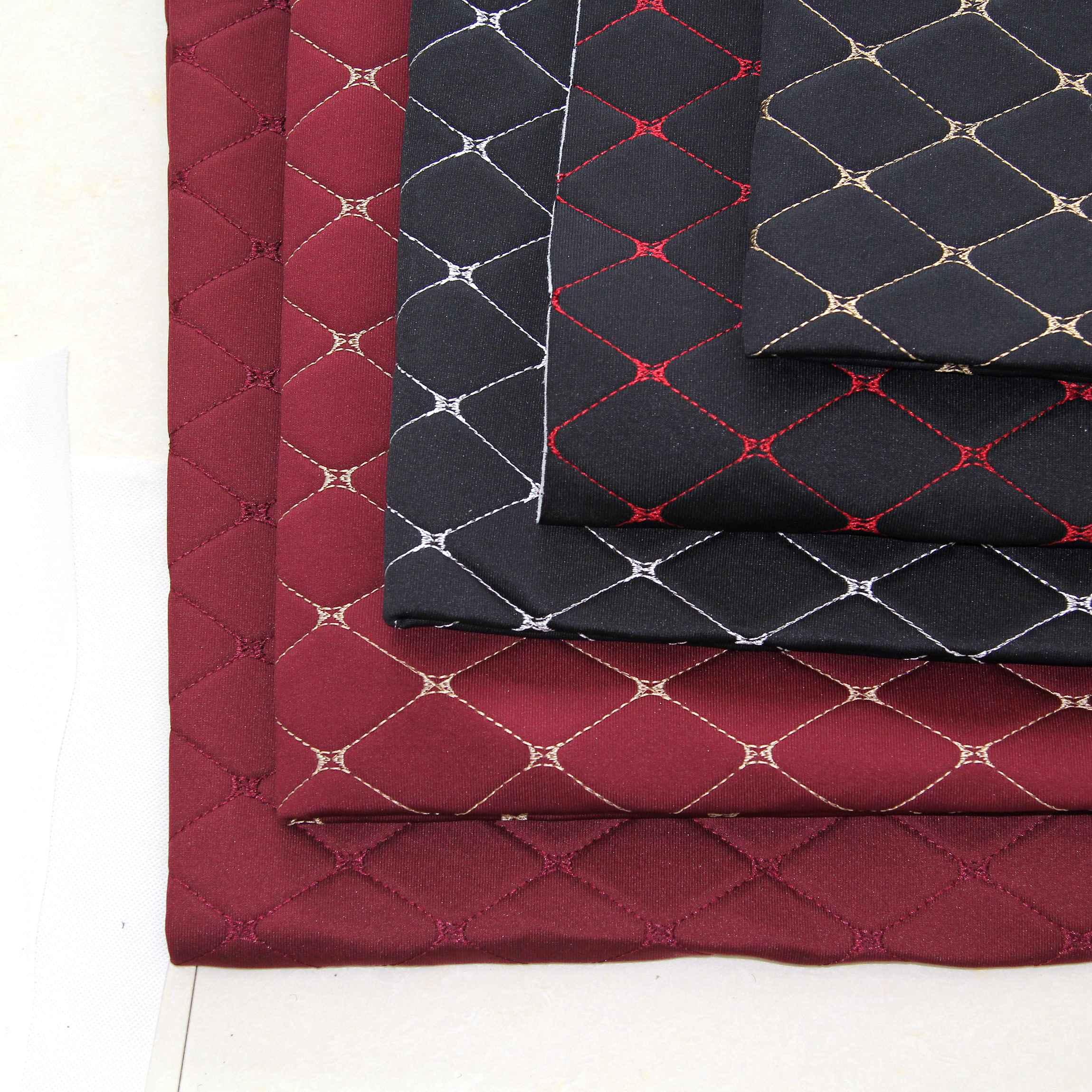 Жаккардовая ткань для автомобильного сиденья с вышивкой и пеной