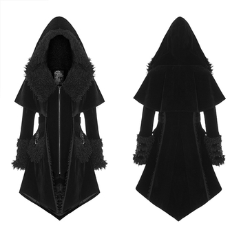 Sexy TV & Movie Costumes Anime Costumes WY-1221ECF Black Evil Women Gothic fake two fashion cloak