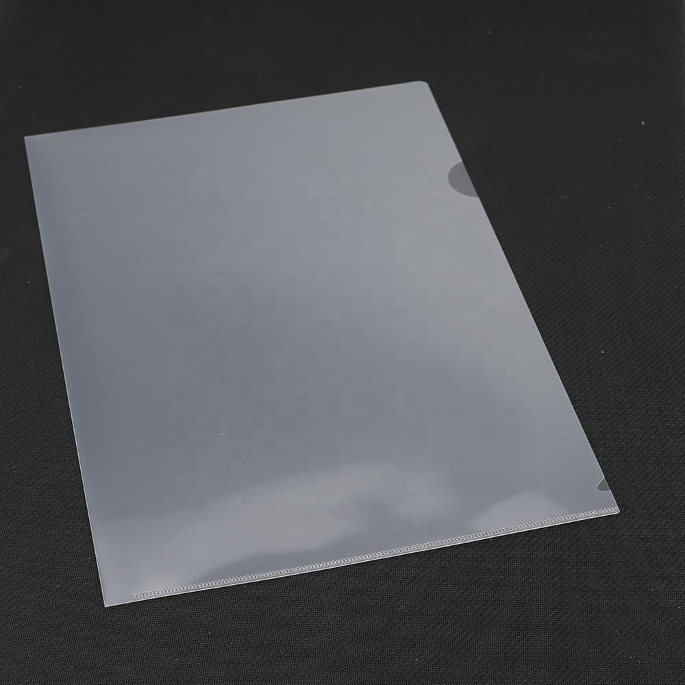 Оптовая продажа, индивидуальная прозрачная папка для файлов L-образной формы A4 из полипропилена и пластика для рекламы