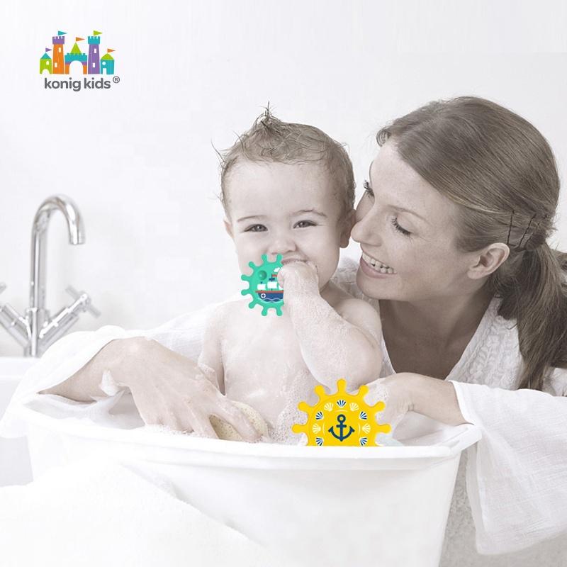 2020 Konig Kids Baby Early Education 6 PCS Gear Toys Baby Summer Playing Water Bath Tub Bath Toy