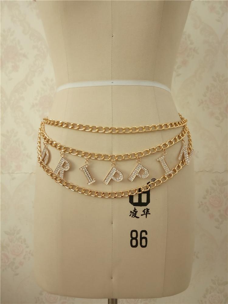 Новый дизайн с надписью «цепочка на талию для ухода за кожей для женщин подвеска на цепочке женские вечерние подарки ювелирные изделия аксессуары