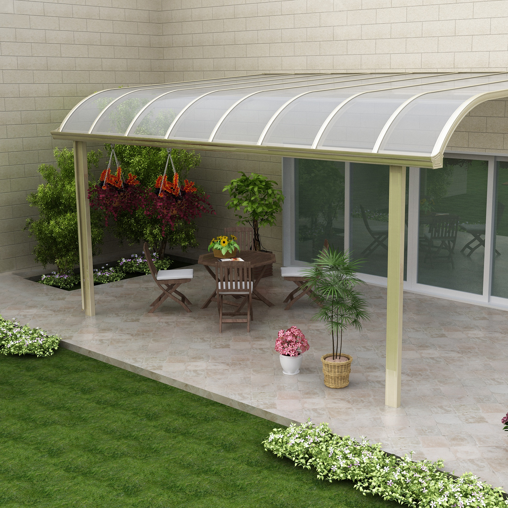 Waterproof Roof Patio Cover Polycarbonate Balcony Aluminum Canopy