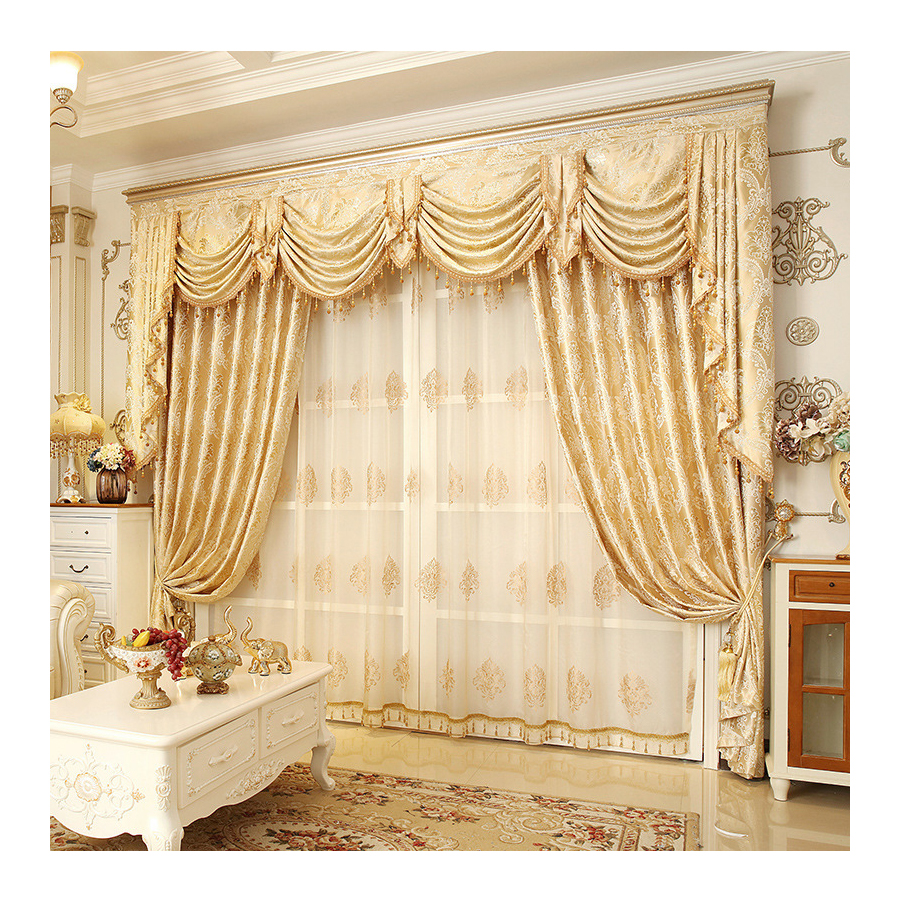 Hot Sale Window Luxury Living Room Jacquard Curtain With Valance Online Store Livingroom Curtain Cloth Buy Livingroom Curtain Cloth Luxury Curtains Living Room Curtains With Valance Product On Alibaba Com