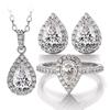 pear moissanite jewelry set