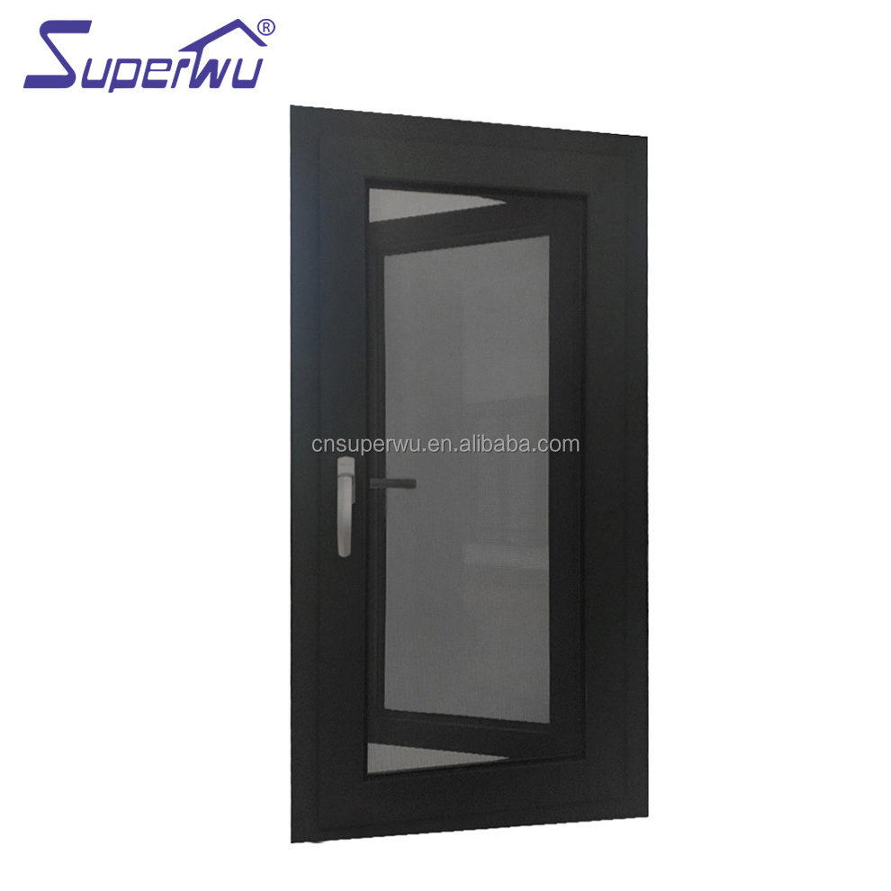 wooden color thermal break aluminium casement windows