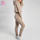 Hoodie Sports Wear Womens Gym Sets Womens Crop Hoodie And Sweatpants 2 Piece Set Gym Tracksuit Sports Wear