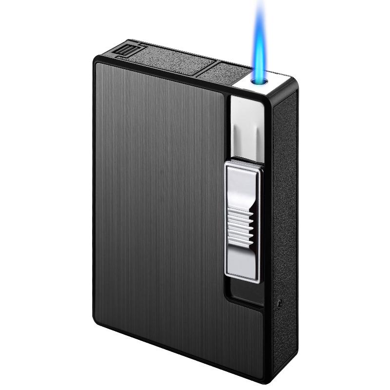 Автоматический портсигар CC261034 с зажигалкой, табак, металлический контейнер, цветные другие зажигалки, аксессуары для марихуаны