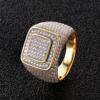 14K Gold Square Ring