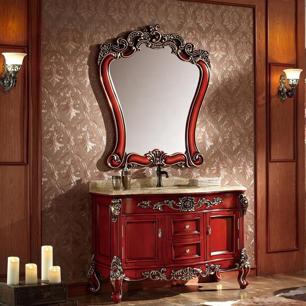 French Antique Bathroom Vanity Cabinet Furniture Wooden Cabinet ...