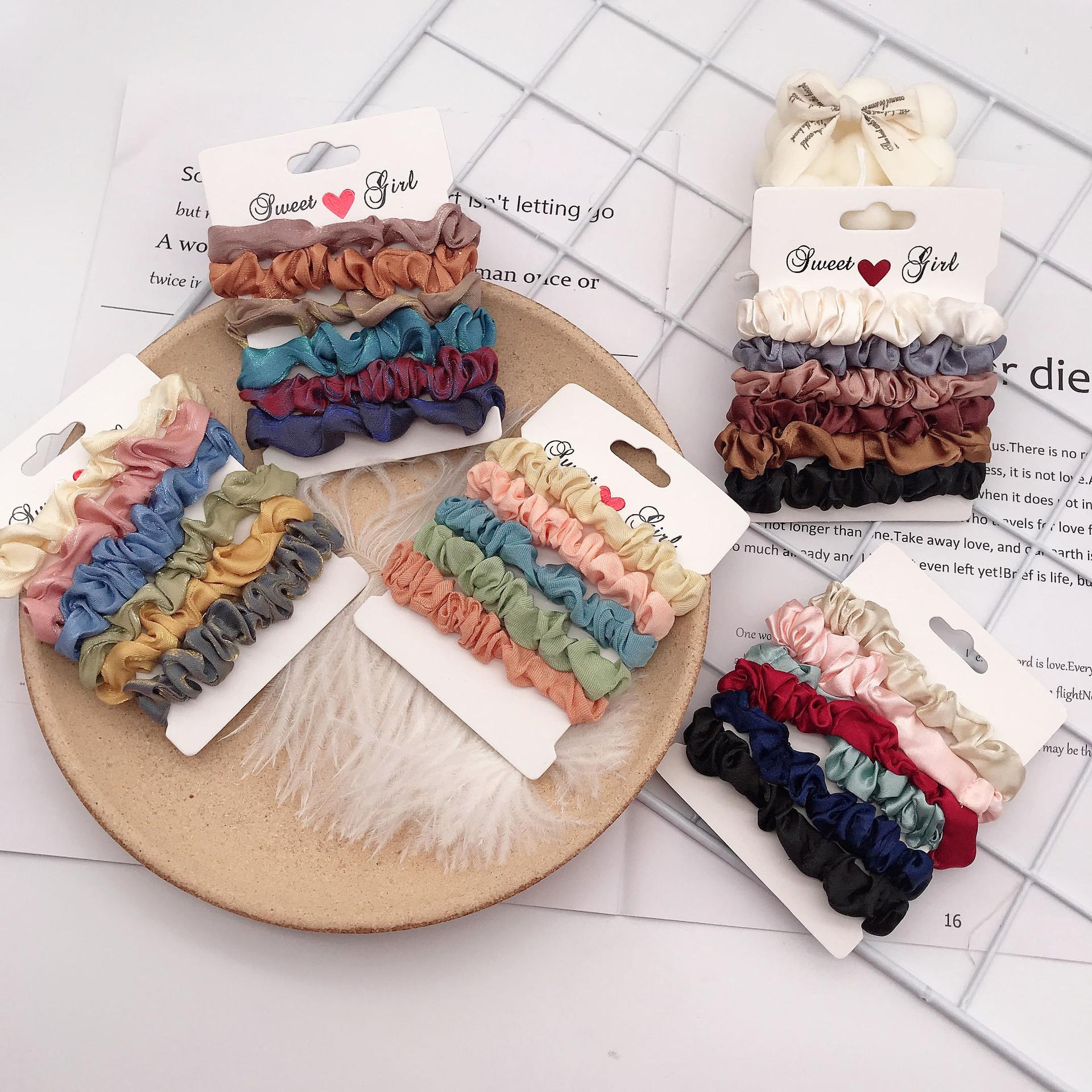 Satin hair tie decorative scrunchie