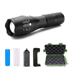 Super Bright Zoom Powerful Torch Tactical led Pocket Flashlight, Brightenlux High Power Flash light Rechargeable Torch Led