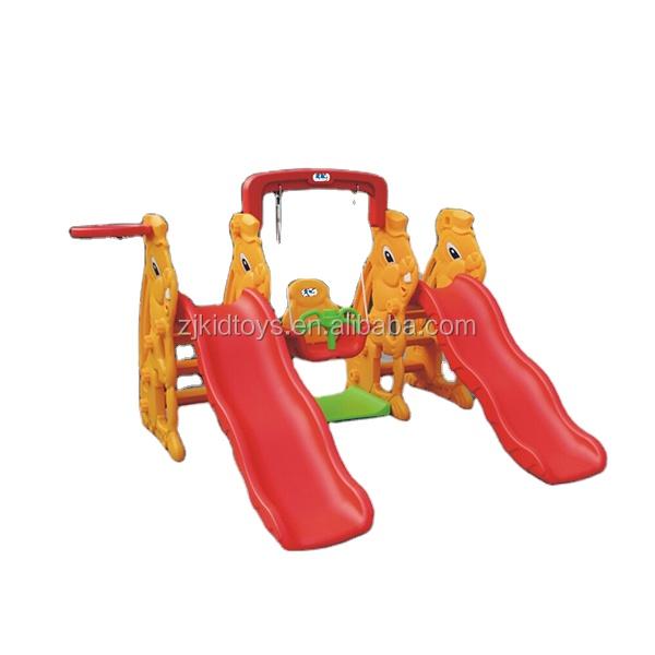 Высокое качество для закрытых помещений для детей дети ребенок пластиковые слайд с качели набор для продажи