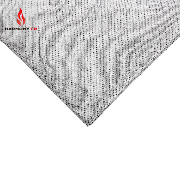 Modacrylic/Cotton/Aramid Permanent Fire Retardant Antistatic Knitted Fabric