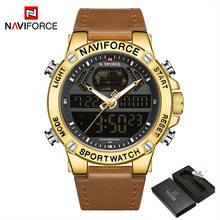 NAVIFORCE мужские часы 2019 Мужские Аналоговые кожаные спортивные часы мужские армейские военные часы Мужские кварцевые часы с датой(China)