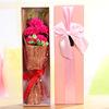5 carnations Rose Madder