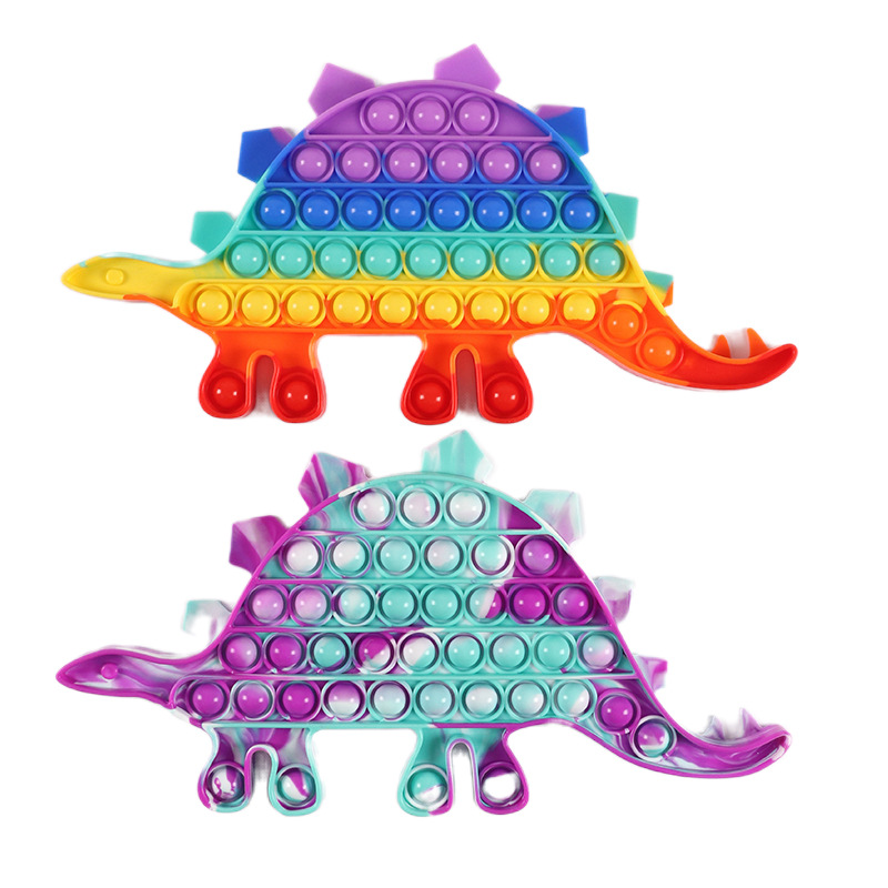 2021 Amazon Hot Selling dinosaur pop Anti Stress Rope Toy Colorful Figet Cube Stress Reliever Fidget Toy Set
