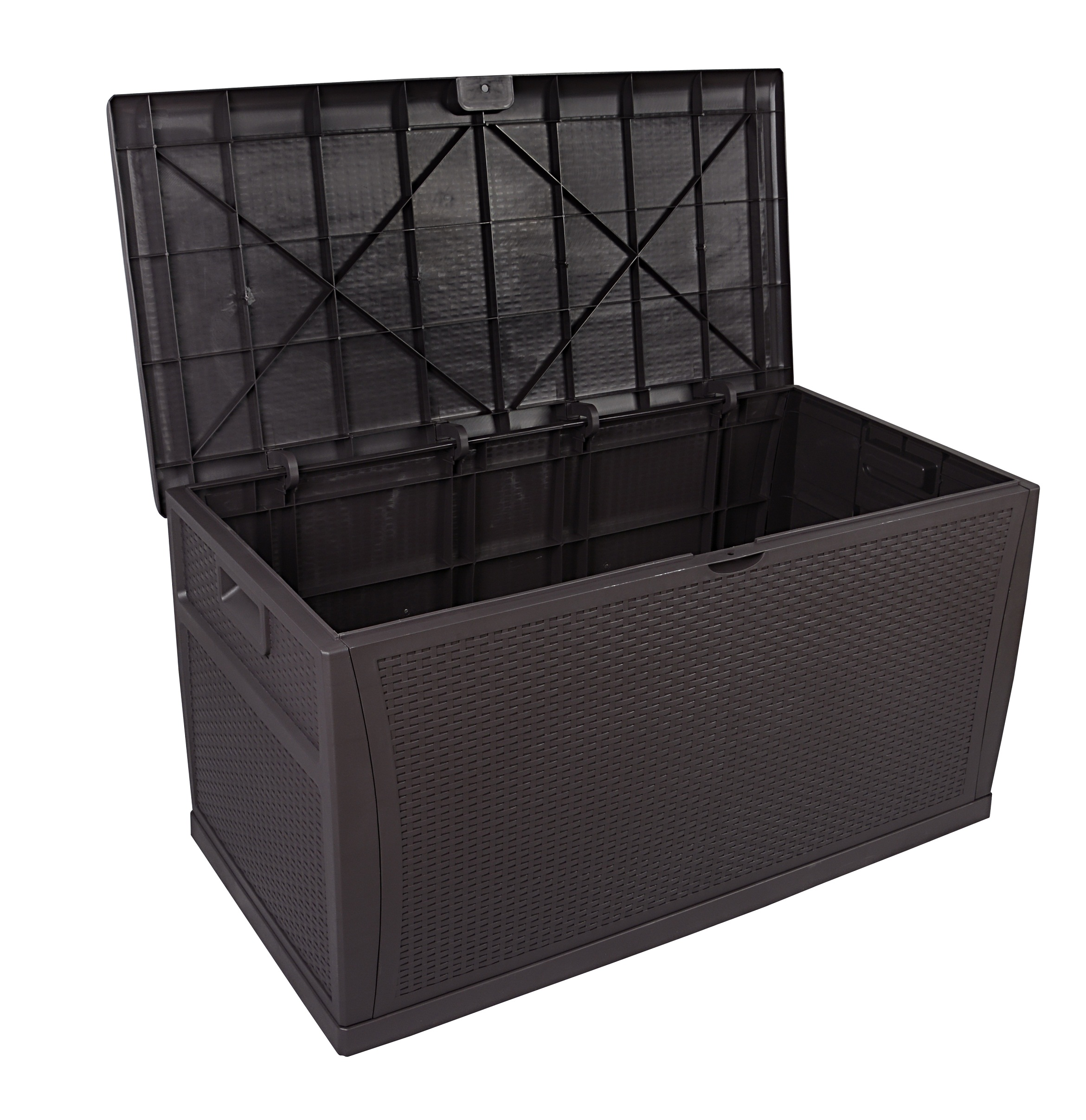 Вместительные садовые контейнеры для хранения объемом 118 галлонов, пластиковая смола, ротанговый стиль, коробка для хранения