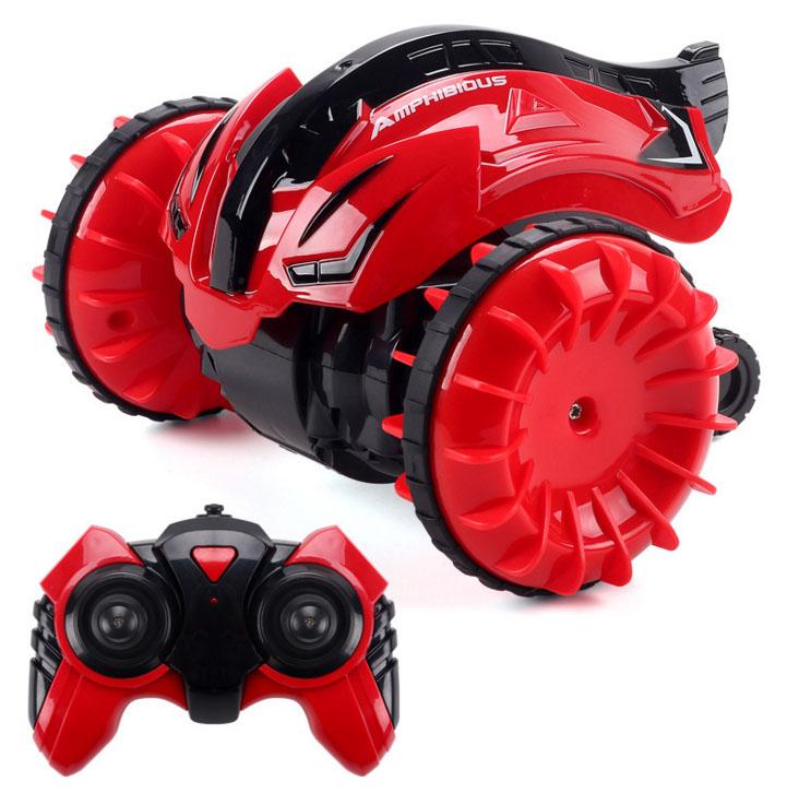 2,4G вращающийся автомобиль с дистанционным управлением, детские игрушки, амфибия, Радиоуправляемый трюковый автомобиль