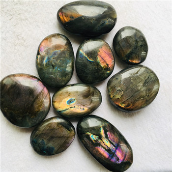 High Quality Natural Wholesale Loose Gemstone Cabochon Purple Labradorite