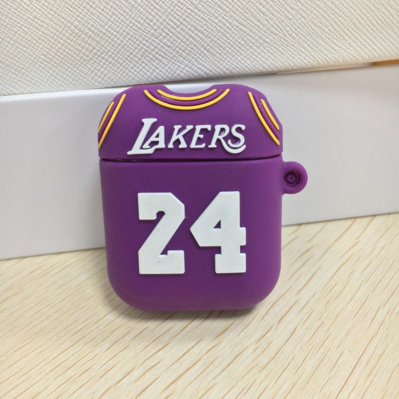 Hot selling cartoon earphone cases For apple air 2 pods cases earbuds shockproof covers custom lakers airipod case