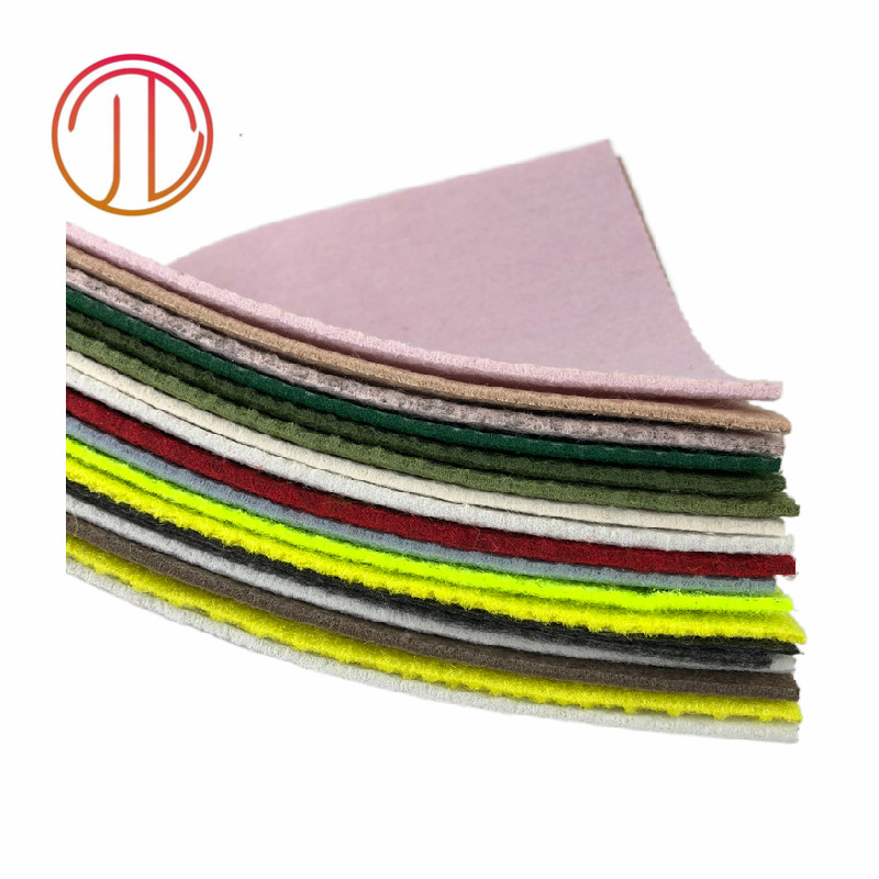High Quality Colorful hard polyester needle punched felt 1mm,2mm,3mm