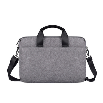 Accessories Grey Zipper Business Office Laptop Shoulder And Hand Bags For Men Business waterproof large laptop bag
