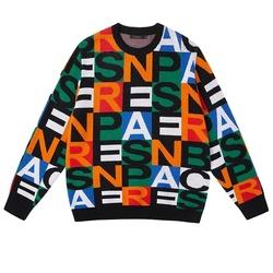 2021 Custom LOGO OEM & ODM men's sweater Jacquard knitwear men Crewneck pullover knit  jumpers winter cotton Knitted men sweater