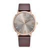 rose gold-leather strap