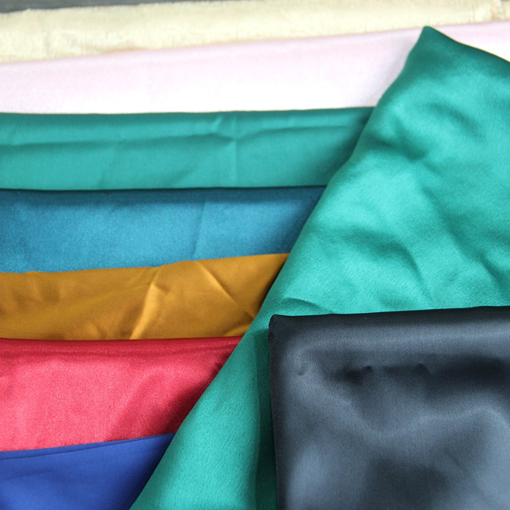 New arrivals 100% polyester bridal GRS certificated recycled satin fabric for dress