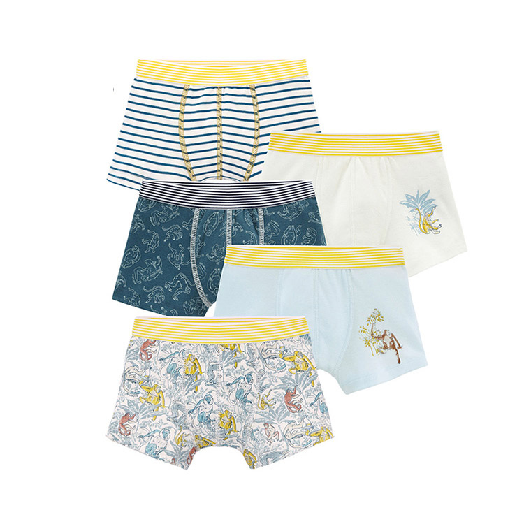 Knitted Children Boxer Shorts Boys Briefs Kids Boxers Custom Underpants Breathable/Sweat Releasing Short Pants