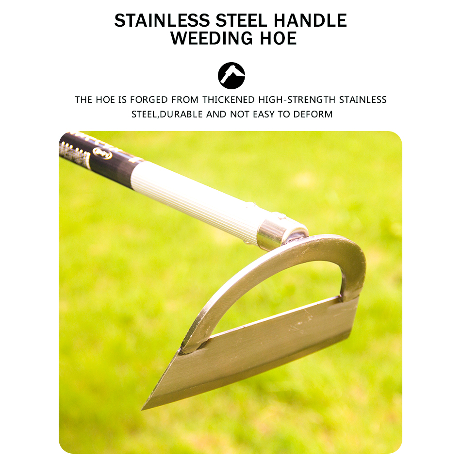 Hand Lowcost Long Handle Hoes Hard Highquality Stainless Steel Hoe