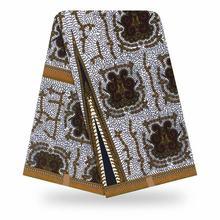 Африканская новая желтая 100% хлопковая оригинальная восковая ткань 2020 африканская ткань с принтом для свадебного платья африканская ткань(China)