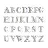 8mm Silver Half rhinestone letters