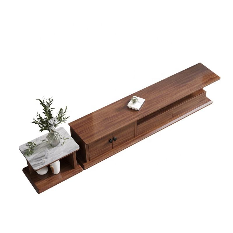 Low price design corner wooden tv stand furniture modern