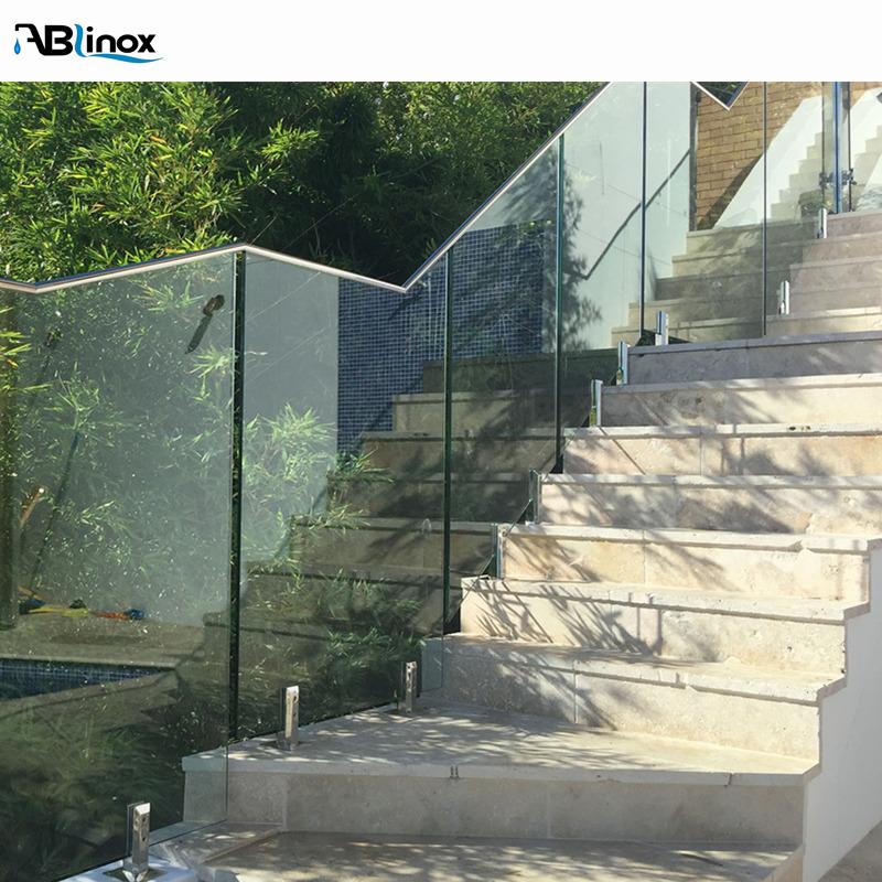 304 атласная стеклянная балюстрада, бескаркасные стеклянные перила, стеклянная балюстрада