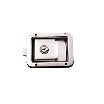 Folding Latch Handle T Lock Trailer Door Cabinet Panel Flush Paddle Latch